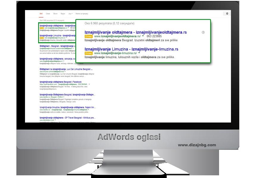 adwords oglasi, google oglasi, oglasi na googlu